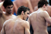 U.S. Michael Phelps, foreground, celebrates after winning with his team the gold medal in the Men's 4x200m Freestyle event at the Swimming World Championships in Rome, 31 July 2009. .UPDATE IMAGES PRESS/Riccardo De Luca