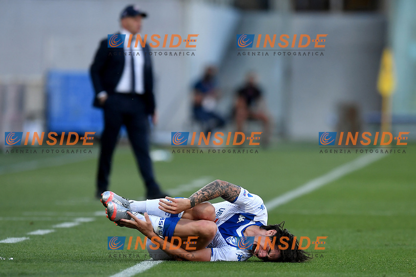 Sandro Tonali of Brescia Calcio reacts during the Serie A football match between ACF Fiorentina and Brescia Calcio at Artemio Franchi stadium in Florence ( Italy ), June 22th, 2020. Play resumes behind closed doors following the outbreak of the coronavirus disease. <br /> Photo Antonietta Baldassarre / Insidefoto