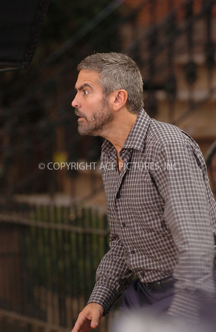 WWW.ACEPIXS.COM . . . . .  ....October 3 2007, Brooklyn NY....Actor Goerge Clooney was on the set of his new movie 'Burn after Reading' in Brooklyn Heights, New York.....Please byline: AJ Sokalner - ACEPIXS.COM..... *** ***..Ace Pictures, Inc:  ..te: (646) 769 0430..e-mail: info@acepixs.com..web: http://www.acepixs.com