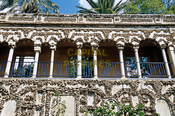 Grotesque Gallery, Palace Gardens, Palacio Mudejar, Reales Alcazares, Seville, Spain