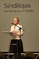 FOZ DO IGUAÇU, PR, 17.03.2014 - POLITICA / ENCONTRO ESTADUAL  - A senadora Gleisi Hoffmann, pré-candidata ao governo do Paraná participou na noite desta segunda-feira(17) em foz do Iguaçu, no encontro das Câmeras da Mulher Empreendedora e Gestora de Negócios, promovido pela Fecomércio (Federação do Comércio de Bens, Serviços e Turismo do Paraná. O encontro acontece no Rafain Palace Hotel & Convention Center.  (Foto: Paulo Lisboa / Brazil Photo Press)