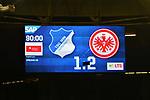 18.01.2020, PreZero-Arena, Sinsheim, GER, 1. FBL, TSG 1899 Hoffenheim vs. Eintracht Frankfurt, <br /> <br /> DFL REGULATIONS PROHIBIT ANY USE OF PHOTOGRAPHS AS IMAGE SEQUENCES AND/OR QUASI-VIDEO.<br /> <br /> im Bild: Endstand / Endergebnis / Feature / Anzeigetafel<br /> <br /> Foto © nordphoto / Fabisch