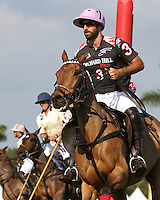 WELLINGTON, FL - FEBRUARY 05:  Facundo Pieres #3 of Orchard Hill after scoring a goal, during one of the early matches of the Ylvisaker Cup at the International Polo Club Palm Beach on February 05, 2017 in Wellington, Florida. (Photo by Liz Lamont/Eclipse Sportswire/Getty Images)