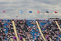 The Australian Flag Flying High: 2012 LONDON OLYMPICS (Saturday 28 July 2012) EVENTING DRESSAGE: