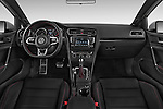Stock photo of straight dashboard view of a 2015 Volkswagen GTI DSG SE PZEV 5 Door Hatchback Dashboard