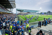 Picture by Allan McKenzie/SWpix.com - 13/04/2018 - Rugby League - Betfred Super League - Leeds Rhinos v Wigan Warriors - Headingley Carnegie Stadium, Leeds, England - Leeds and Wigan come out to play their Super League clash at Headingley.