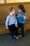 Berkeley CA  Friendly interaction between siblings, ages four and five  MR