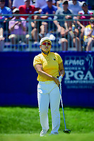 Jiyai Shin (KOR) watches her tee shot on 1 during Sunday's final round of the 2017 KPMG Women's PGA Championship, at Olympia Fields Country Club, Olympia Fields, Illinois. 7/2/2017.<br /> Picture: Golffile | Ken Murray<br /> <br /> <br /> All photo usage must carry mandatory copyright credit (&copy; Golffile | Ken Murray)