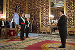 King of Spain Felipe VI receives and gives credential letters to Armenia Republic´s ambassador Avet Adonts at Royal Palace `Palacio Real´in Madrid, Spain. October 06, 2014. (ALTERPHOTOS/Victor Blanco)
