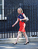 Cabinet meeting arrivals <br /> Downing Street, London, Great Britain <br /> 19th July 2016 <br /> <br /> New members of the Cabinet <br /> arriving ahead of the first cabinet meeting chaired by Theresa May <br /> <br /> Liz Truss<br /> with Larry the Cat fast asleep behind her<br /> <br /> <br /> Photograph by Elliott Franks <br /> Image licensed to Elliott Franks Photography Services