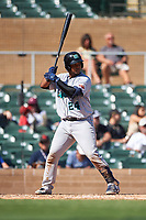 Salt River Rafters Ronaldo Hernandez (24), of the Tampa Bay Rays organization, at bat during the Arizona Fall League Championship Game against the Surprise Saguaros on October 26, 2019 at Salt River Fields at Talking Stick in Scottsdale, Arizona. The Rafters defeated the Saguaros 5-1. (Zachary Lucy/Four Seam Images)