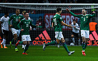 19th November 2019, Frankfurt, Germany; 2020 European Championships qualification, Germany versus Northern Ireland;  Northern Ireland  celebrate the goal for 0-1 from goalscorer Michael Smith