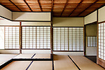 Kyoto, June 27 2013 - Inside the upper Villa's Kyusuitei at Shugakuin Imperial villa