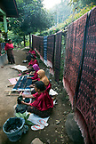 INDONESIA, Flores, women weavers working in the town of Ende, a weaving group called Bou Sama-Sama Ikat