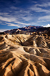 Afternoon light at Zabriskie Point, Death Valley, California