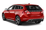 Car pictures of rear three quarter view of 2017 Volvo V60 T6-R-Design 5 Door Wagon Angular Rear