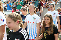 Cary, North Carolina  - Sunday May 21, 2017: Alyssa Mautz prior to a regular season National Women's Soccer League (NWSL) match between the North Carolina Courage and the Chicago Red Stars at Sahlen's Stadium at WakeMed Soccer Park. Chicago won the game 3-1.
