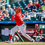 1 March 2019: Washington Nationals infielder Luis Garcia at bat during a Spring Training game against the Miami Marlins at Roger Dean Stadium in Jupiter, Florida. The Nationals defeated the Marlins 5-4 in Grapefruit League play. Mandatory Credit: Ed Wolfstein Photo *** RAW (NEF) Image File Available ***