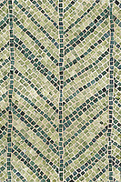 Palm Frond, a natural stone hand chopped tumbled mosaic shown in Chartreuse, Verde Alpi, is part of the Metamorphosis Collection by Sara Baldwin for New Ravenna Mosaics.
