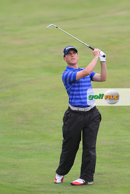 Cian McNamara on the 16th on Day 1 of the 101st Irish PGA Championship in Seapoint Golf Club, Co.Louth...(Photo Jenny Matthews/www.golffile.ie)
