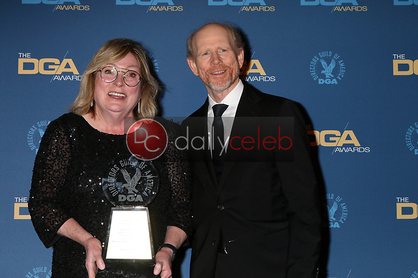 Kathleen McGill, Ron Howard<br /> at the 71st Annual Directors Guild Of America Awards Press Room, Dolby Ballroom, Hollywood, CA 02-02-19<br /> David Edwards/DailyCeleb.com 818-249-4998