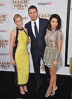 Elizabeth Banks (left) with Channing Tatum &amp; wife Jenna Dewan Tatum at the world premiere of their movie &quot;Magic Mike XXL&quot; at the TCL Chinese Theatre, Hollywood.<br /> June 25, 2015  Los Angeles, CA<br /> Picture: Paul Smith / Featureflash