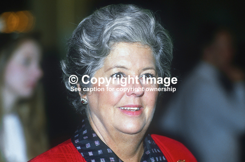 Betty Boothroyd, MP, Labour Party, UK, at annual conference Sptember 1986, 19860924BB!<br /> <br /> Copyright Image from Victor Patterson, 54 Dorchester Park, Belfast, UK, BT9 6RJ<br /> <br /> t1: +44 28 9066 1296 (from Rep of Ireland 048 9066 1296)<br /> t2: +44 28 9002 2446 (from Rep of Ireland 048 9002 2446)<br /> m: +44 7802 353836<br /> <br /> e1: victorpatterson@me.com<br /> e2: victorpatterson@gmail.com<br /> <br /> The use of any of my copyright images is subject to my Terms &amp; Conditions.<br /> <br /> It is IMPORTANT that you familiarise yourself with them. They are available on my website, victorpatterson.com.<br /> <br /> None of my copyright images may be used on the Internet unless they are visibly watermarked, i.e. &copy; Victor Patterson within the body of the image. Metadata denoting my copyright must NOT be deleted. <br /> <br /> Web use is extra at currently recommended NUJ rates.