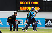 30.8.10 - CB40 Cricket - Warwickshire Bears V Scottish Saltires at Edgbaston - Saltires batsman Richie Berrington sees the ball away, in front of Bears' keeper Richard Johnson, on his way to 82 runs - Picture by Donald MacLeod - mobile 07702 319 738 - clanmacleod@btinternet.com - words if required from William Dick 077707 839 23