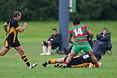 Joseph Faliu dives over to score Bombay's second try. Counties Manukau Premier Club Rugby game between Waiuku and Bombay, played at Waiuku on Saturday July 5th 2010. Waiuku won 59 - 14 after trailing 12 - 14 at halftme.