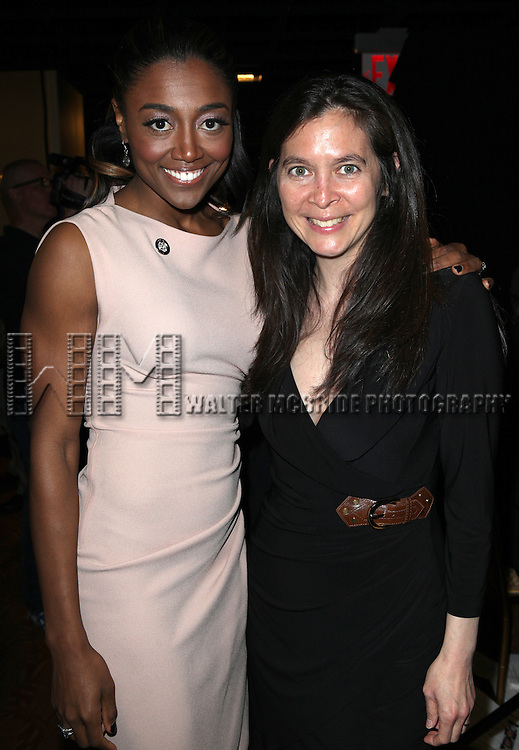 Pippin: Patina Miller & Director Diane Paulus attending the 2013 Tony Awards Meet The Nominees Junket  at the Millennium Broadway Hotel in New York on 5/1/2013...