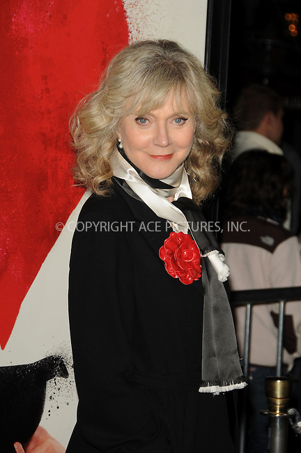 WWW.ACEPIXS.COM . . . . . ....February 1 2011, Los Angeles....Actress Blythe Danner arriving at the Los Angeles Premiere of 'Waiting For Forever' at the Pacific Theatres at The Grove on February 1, 2011 in Los Angeles, CA ....Please byline: PETER WEST - ACEPIXS.COM....Ace Pictures, Inc:  ..(212) 243-8787 or (646) 679 0430..e-mail: picturedesk@acepixs.com..web: http://www.acepixs.com