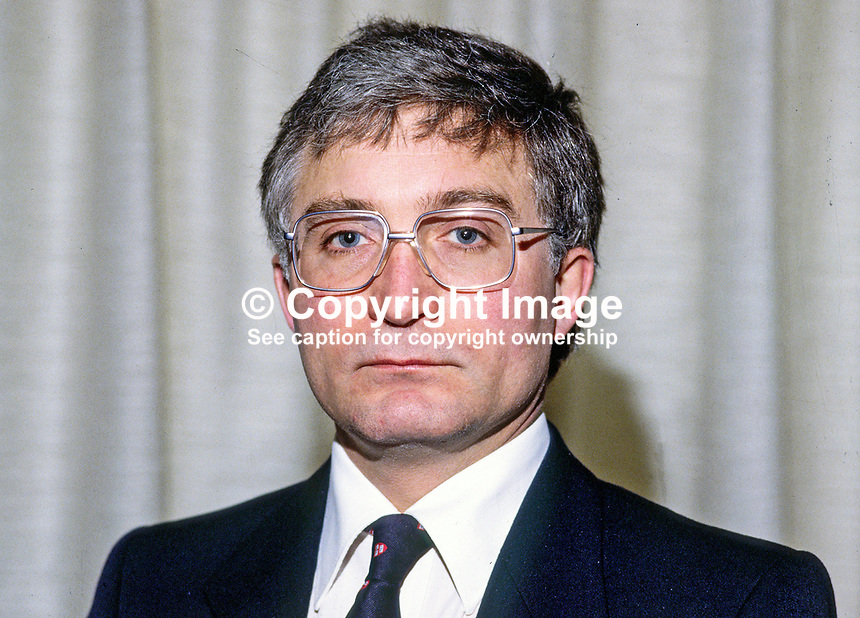 Victor Blease, chief executive, N Ireland Housing Executive. Ref: 1985030037, son of Lord Blease.<br />