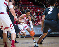 STANFORD, CA - January 26, 2019: KZ Okpala at Maples Pavilion. The Stanford Cardinal defeated the Colorado Buffaloes 75-62.