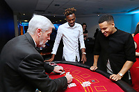 Pictured: (L-R) Tammy Abraham and Martin Olsson of Swansea City <br /> Re: Swansea City FC Christmas party at the Liberty Stadium, Wales, UK. Thursday 14 December 2017