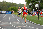 28 MAY 2016:  Ian LaMere crosses the finish line to win the men's 5,000 meter race during the Division III Men's and Women's Outdoor Track & Field Championship held at Walston Hoover Stadium on the Wartburg College campus in Waverly, IA. LaMere of Wis.-Platteville won the race with a time of 14:24.02. Conrad Schmidt/NCAA Photos