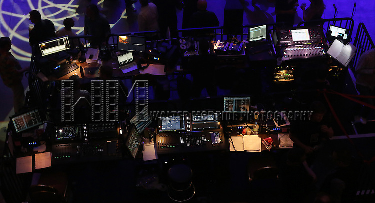The soundboard Broadway Cares/Equity Fights AIDS' <br /> &quot;Broadway Bares, Rock Hard!&quot; at Hammerstein Ballroom June 22, 2014 in New York City.