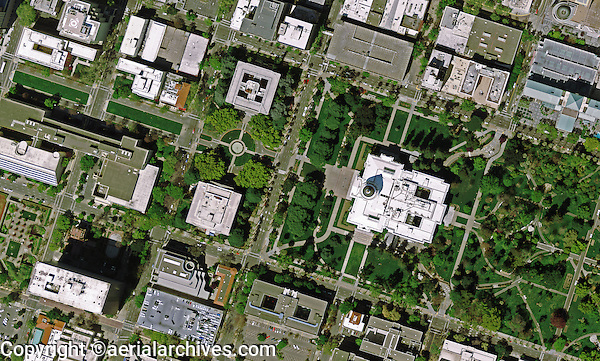 aerial photo map Sacramento, California