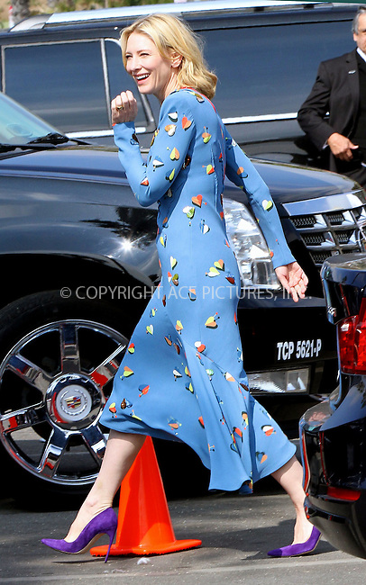 WWW.ACEPIXS.COM<br /> <br /> February 21 2015, Los Angeles CA<br /> <br /> Actress Cate Blanchett arriving at the 2015 Film Independent Spirit Awards at Santa Monica Beach on February 21, 2015 in Santa Monica, California.<br /> <br /> <br /> Please byline: Nancy Rivera/ACE Pictures<br /> <br /> ACE Pictures, Inc.<br /> www.acepixs.com, Email: info@acepixs.com<br /> Tel: 646 769 0430