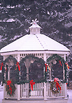 gazebo decorated for Christman