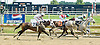Cherokee Raider winning before being DQ'd at Delaware Park on 8/1/11.