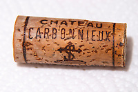 cork chateau carbonnieux bordaux france