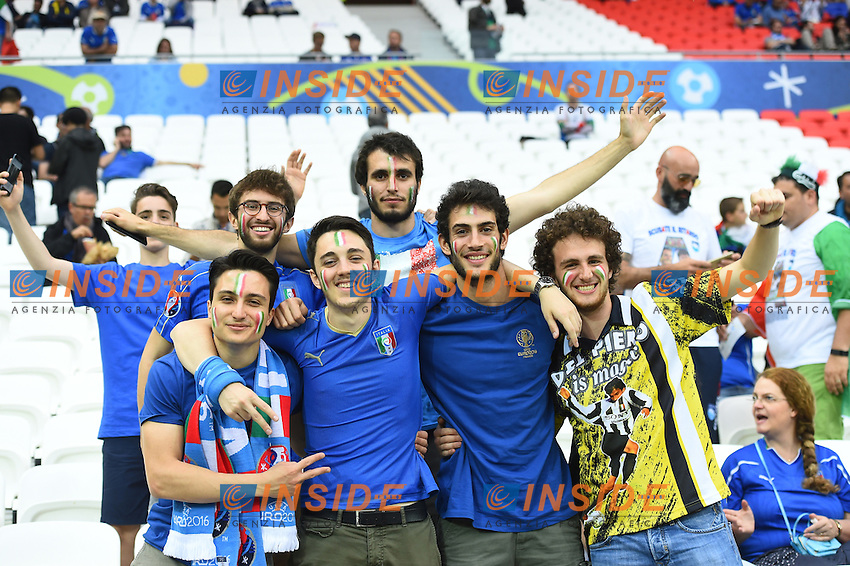 Tifosi Italia Supporters <br /> Lyon 13-06-2016 Grand Stade de Lyon Football Euro2016 Belgium-Italy / Belgio-Italia Group Stage Group E. Foto Massimo Insabato / Insidefoto