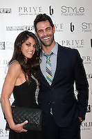 "LOS ANGELES - OCT 15:  Lindsay Hartley, Jason Shane Scott at the Sue Wong ""Fairies and Sirens"" Fashion Show at The REEF on October 15, 2014 in Los Angeles, CA"