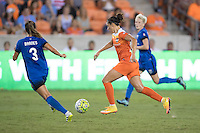 Houston, TX - Sunday Sept. 25, 2016: Lauren Barnes, Carli Lloyd during a regular season National Women's Soccer League (NWSL) match between the Houston Dash and the Seattle Reign FC at BBVA Compass Stadium.