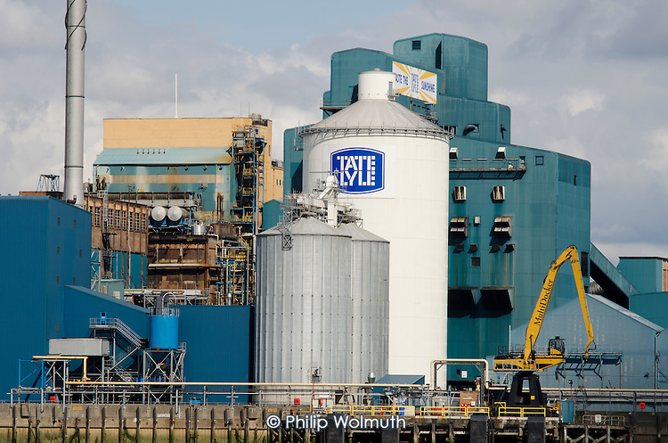 The Tate & Lyle sugar refinery, Silvertown, London.