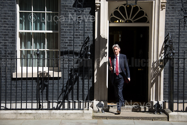 Philip Hammond MP (Chancellor of the Exchequer).<br /> <br /> London, 19/07/2016. First Cabinet meeting at 10 Downing Street (after the EU Referendum and consequent David Cameron's resignation) for the new Prime Minister Theresa May and her newly formed Conservative Government.<br /> <br /> For more information about the Cabinet Ministers: https://www.gov.uk/government/ministers