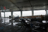 New York, New York.October 30, 2012..The station terminal to visit Ellis Island and the Statue of Liberty remains in disarray after being flooded by the storm.