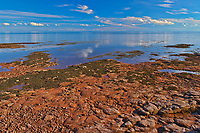 Low tide and red sandstone rocks along the Northumberland Strait<br />