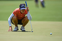 Azahara Munoz (ESP) lines up her putt on 4 during round 3 of the 2019 US Women's Open, Charleston Country Club, Charleston, South Carolina,  USA. 6/1/2019.<br /> Picture: Golffile | Ken Murray<br /> <br /> All photo usage must carry mandatory copyright credit (© Golffile | Ken Murray)