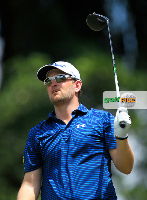 Bernd Wiesberger (AUT) on the 18th tee during Round 4 of the Maybank Championship on Sunday 12th February 2017.<br /> Picture:  Thos Caffrey / Golffile<br /> <br /> All photo usage must carry mandatory copyright credit     (&copy; Golffile | Thos Caffrey)
